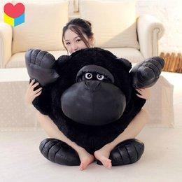 Wholesale 1pcs cm movie Planet of the Apes Rise stuffed toy King Black orangutan chimpanzee plush toy throw pillow birthday gift