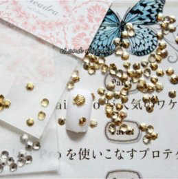 Wholesale 50pcs bag New Popular Mini Alloy Metal Nail Art Shell Beads Design Rhinestone mm Decoration Stickers Tip Studs spike SS001