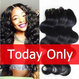 Unprocessed Human Virgin Hair Brazilian Body Wave Natural Black Hair Bundles 8 pcs a lot Cheap Brazillian Hair weave4,6,8,10pic lot