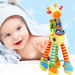 Unisex Lovely Baby Kids Toddlers Soft Giraffe Family Stuffed Toys Plush Doll Rattles Teether 16.8 inch Long Deer Gifts