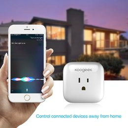 Wholesale Koogeek Home WiFi Smart Plug Electrical Plug Sockets Enabled with Apple HomeKit Support Siri Control Monitor Energy Consumption