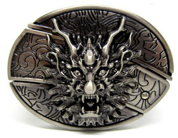 Wholesale Antique Style Dragon with Knife Belt Buckle SW B448 brand new condition