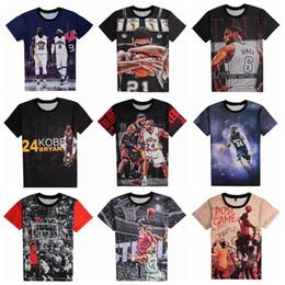 Wholesale Sleeve Flash - 2016 new fashion 3D Print Basketball Star Short Sleeve Men's T-shirt Sports Short Sleeve Cotton jerseys Summer Beach Clothing