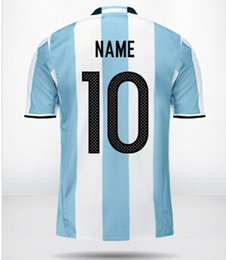 Wholesale 2015 Online customized Popular personalized Team Athletics Jerseys Thai Quality Argentina Custom Soccer Jersey Tops Shirts Jerseys