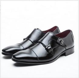 2017 chaussures robe de moine Hommes chaussures casual chaussures de luxe en cuir véritable affaires formelles chaussures hommes robe brogues oxfords monk sangle chaussures hombre bon marché chaussures robe de moine
