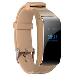 Wholesale New DF22 Business and Sports Smart Bracelet Bluetooth wirstband HiFi Sound Headset Digital Pedometer Colors For IOS Android Phone