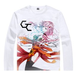 Wholesale Guilty Crown Long Shu Ouma T shirts Anime Awesome Gifts Mens Designer Long T shirts Anime Cartoon Girl Cute T shirt T Shirt Shirt