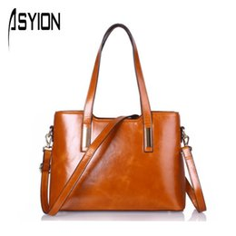 Wholesale ASYION News Genuine Leather Women Bag European and American Big Bag Women Messenger Bags Ladies Shoulder Bag Bolsa HC247