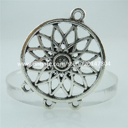 Wholesale 14556 PC Alloy Antique Silver Hollow Plant Flower Chandelier Pendant Connecter