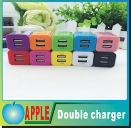 100% Original 5V 2.1A 1A Double EU US AC USB Dock Charger for Iphone Samsung Galaxy HTC Cell Phones Adapter Free DHL