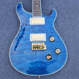 Music instrument guitar store,Sky blue quilted maple top ,gold hardware Paul Smith guitar electric,free shipping