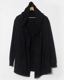 New design Original design spring autumn men's clothing sweatshirt hoodie men hood cardigan mantissas black cloak outerwear