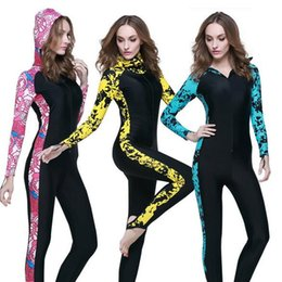 Wholesale 2016 Women DiveSkin wetsuits Patchwork sexy sun protection UPF50 SCUBA Snorkeling Jellyfish bodysuit hoodies drysuit for Scuba Diving