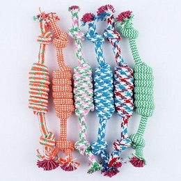 2016 Pet Dog Puppy Cotton Chew Knot Toy Durable Braided Bone Rope Pet Bone Chew Rope Funny Tool