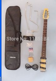 Wholesale MiniStar Castar Travel Guitar Built in Headphone Amp electric guitar including bag