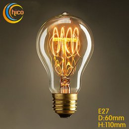 Wholesale LED light bulb E27 Vintage Squirrel W led vintage Edison Light Bulb fireworks carbon filament antique lamp lights bulbs
