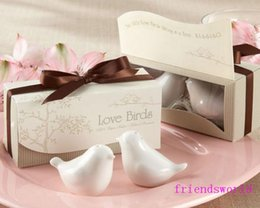 Nice 150sets=300pcs Popular Wedding Favor Love Birds Salt And Pepper Shaker Party Favors For Party Gift