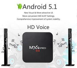 Wholesale 2016 MXQ Pro smart Android TV Box Amlogic S905 Chipset new Kodi Full Loaded Android OS Quad Core G G K Google Streaming Media Player