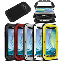 Wholesale LOVE MEI Metal Shockproof Waterproof Case Cover For Samsung Galaxy S7 S6 edge Note A8 A7 Shock resistance with Gorilla Tempered Glass