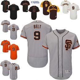 Wholesale Black grey cream orange Brandon Belt Authentic Jersey Men s San Francisco Giants Flexbase Collection
