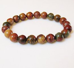 SN0079 Attractive 8MM High Quality Red Jasper bracelet for men Natural stone jewelry fashion mens bracelet wholesale