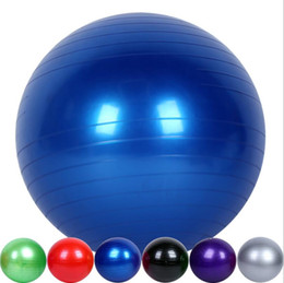 Wholesale NEW Yoga Ball Thick Explosion Proof Massage Ball Bouncing Ball Gymnastic Exercise Yoga Balance Ball CM Air Pump