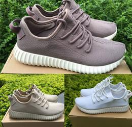 2017 la conception de chaussures de couleur Livraison gratuite Nouveau design couleur Boost 350 la nouvelle couleur Lily blanc kaki taupe basse coupe chaussures bonnes pas cher vente en ligne la conception de chaussures de couleur promotion