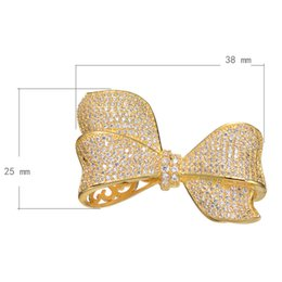 2016 Fashion Pearls Chain Connectors Cubic Zirconia Micro Pave Bow-knot Brass Plated More Colors For Choice 38x25mm 3PCS Lot Free Shipping