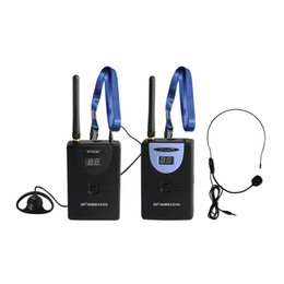 Wholesale 2 GHz Wireless Tour Guide System Teach Train Visit Tourism transmitter receiver Wireless Translation System