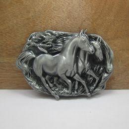 Wholesale BuckleHome Metal horse belt buckle animal belt buckle western belt buckle with pewter FP