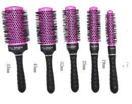 Wholesale Radial Hair Brush Purple Professional Use A round brush wire aluminum tube round brush iron roll round brush hair professional cylinder