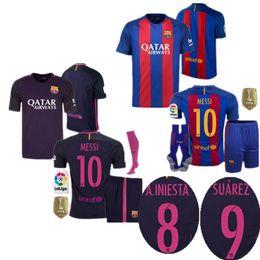 Wholesale Best selling Barcelona kit jerseys MESSI ARDA A INIESTA SUAREZ SERGIO PIQUE I RAKITIC NEYMAR JR home and away Football kit