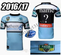 Wholesale best Thai quality Cronulla Sharks rugby jerseys Zealand NRL Australia league rugby jersey shirts Size S XXXL Free Custom