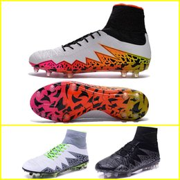 Wholesale new HyperVenom Phantom II ACC FG Men s soccer Cleats White orange Volt customize name and No football boots soccer shoes