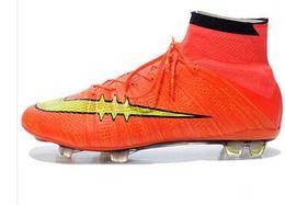 2015 CR7 SuperflyFg Soccer Shoes Mens Boys Football boots High Ankle Soccer Cleats CrIStiAnO RoNaLdO Botas De Futbol 18 Color free shipping