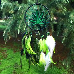 Wholesale Artistic cm Wind Chimes Indian Style native American dream catcher tapestry leather dream catcher for room car decorate