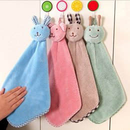 Wholesale 2016 Hot Sale cute rabbit Baby Hand Towel Soft Children s Cartoon Animal Hanging Wipe Bath Face Towel