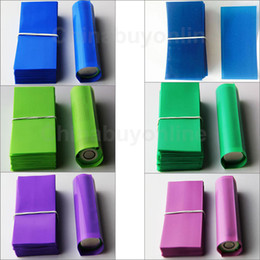 18650 battery shrinkable tube PVC heat insulation Re-wrapping film for 18650 series Li-ion battery 72mm heat shrink seals sleeves