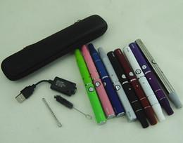 Acheter en ligne Métal cas ecig-Dry stylos Vape herb Vaproizer cigarettes électroniques ego kits de démarrage Evod ecig batterie Evod il y a g5 herbes vapeur atomiseur kit étui à fermeture éclair