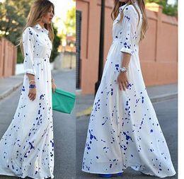 New Women Sexy Summer dresses Evening Party Long Maxi Beach Dress Chiffon Dresses Free shipping