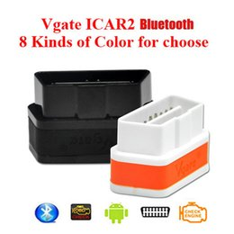Wholesale The Best OBDII ELM327 Bluetooth iCar vgate OBD car diagnostic interface for IOS Phone Android Phone Bluetooth connection New