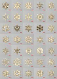 Wholesale Fashion Assorted Snowflake Shapes Wooden Embellishment Xmas Christmas Tree Decor Home Party Decoration Hanging
