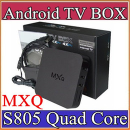 Wholesale 13X hot sale MXQ android TV BOX Amlogic S805 Quad Core Android GB GB Media Player Rooted Online Update MXQ Android TV Box A TH
