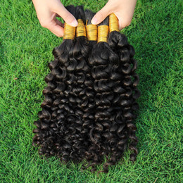 Thick End Kinky Curly Bulk Braid Hair Popular Kinky Curl Indian Human Hair Extensions For Black Women No Attachment Human Hair Bulk