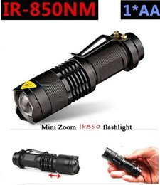 Free shipping 2016 NEW Zoom lens IR LED 5W flashlight 850 nm Infrared Radiation ir Lamp waterproof  With night vision night vision flashligh