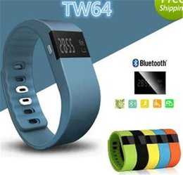 Wholesale Christmas Gift Present TW64 Wristband Wireless Activity Sleep Best Tracker Smart Watch Original smartband Wrist band for apple iphone