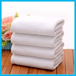Wholesale Hot Sale New White Cotton Bath Towels Face Towel SPA Salon Towel High Quality