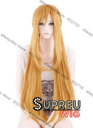 Wholesale Sword Art Online Asuna Yuuki Long Blonde Anime Cosplay Hair Wig PL313 wig news wig set