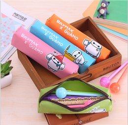 Cute Portable Pen Bag Pencil bag Cartoon Waterproof Nylon Pencil Case Storage Bag Pencil Pen Case Stationery Pen pencil Pouch 22*15CM AAA+