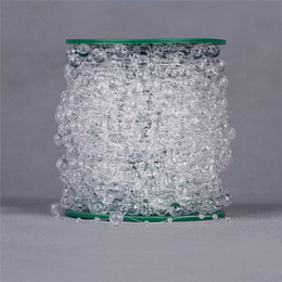 Wholesale 60Meters mm mm Clear Acrylic Beads Chain Fish Line Garland Spool Rope Wedding Table Centerpiece Flower Decoration DIY Crafts